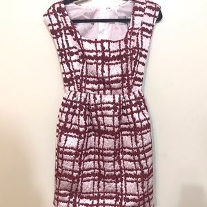 ASOS Pink Red Jacquard dress NWT